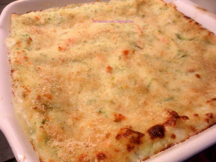 Lasagne al salmone e crema di zucchine | In cucina con Pagnottina