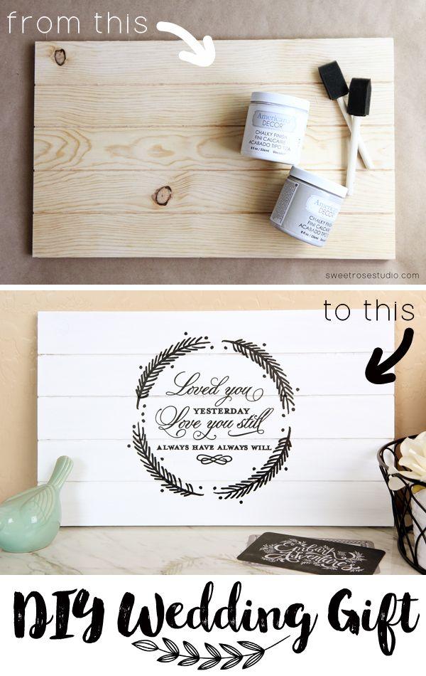 DIY Wedding Gift Tutorial at Sweet Rose Studio