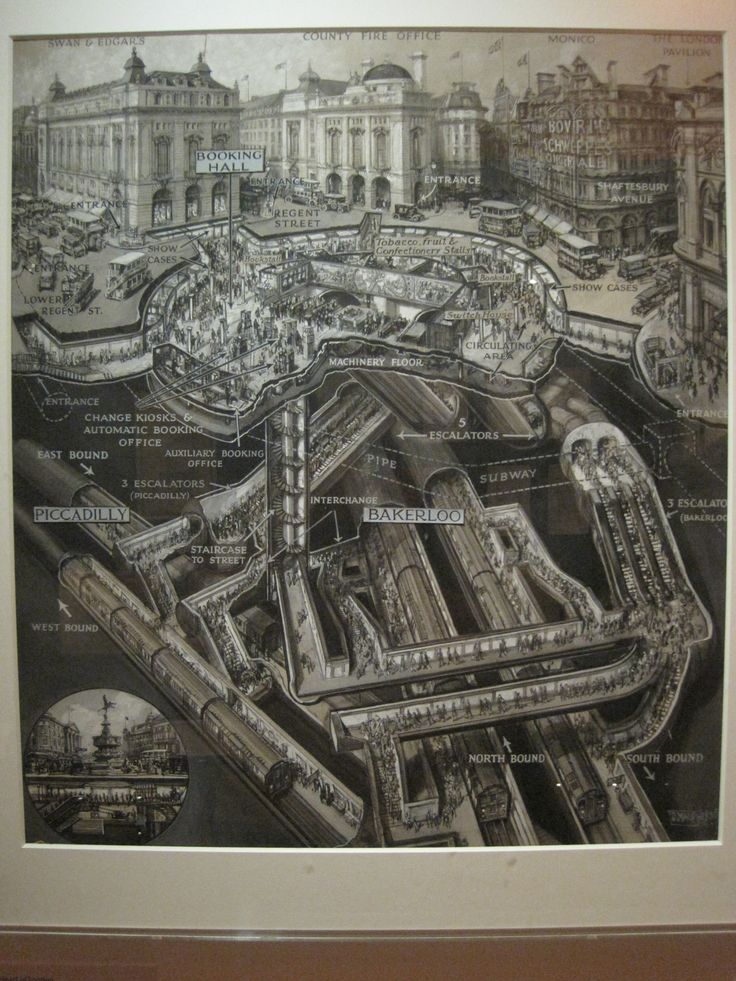London, Cutaway map of the Underground