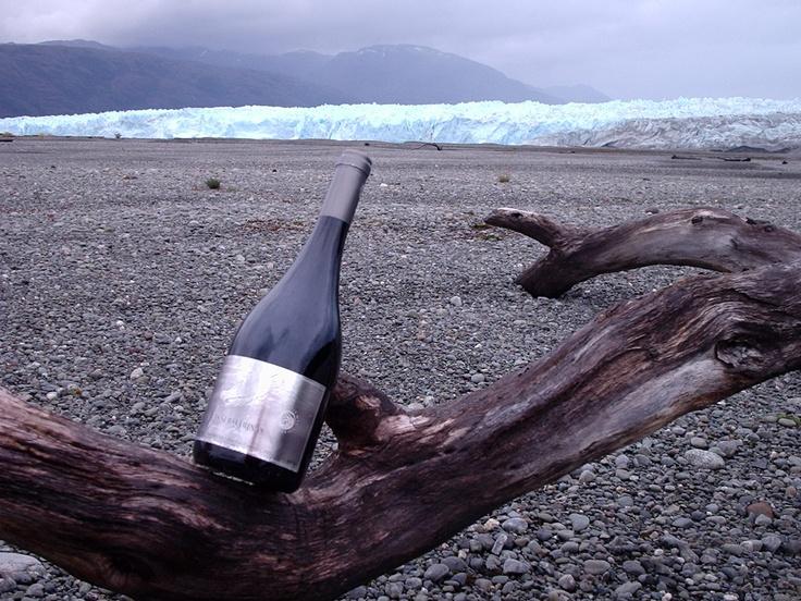 Wine at a glacier!