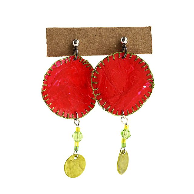 """Plastic bag earrings"" Anna Spathari"