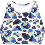 Lisa King Bailey Jewel Print Racerback Bikini Top