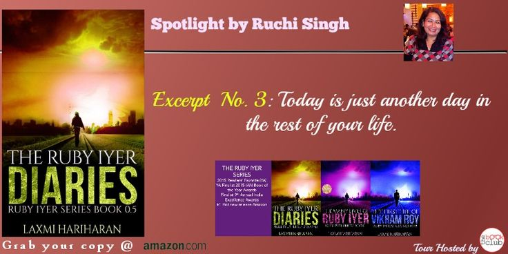 #FreeAlert #Giveaway AmazonGift Card $15 That's what Dad like to say….#blogtour #thebookclub Ruchi Singh #spotlights Ruby Iyer Diaries by Laxmi Hariharan https://www.facebook.com/TheBookClubBlogTours/photos/pb.118778198317770.-2207520000.1449255035./428332447362342/?type=3&theater Please subscribe to the newsletter to keep updated regarding the Ruby Iyer Series  http://laxmihariharan.us5.list-manage1.com/subscribe?u=7f47195d0362fd1f1169c0c59&id=ce37f67591