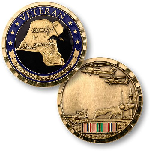 THIS ITEM CAN ONLY BE SHIPPED WITHIN THE U.S. This coin is dedicated to the courage and devotion to duty of all those who made Operation Desert Storm such a successful military and strategic campaign.