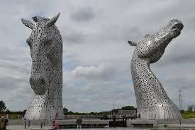 Horses' heads near Falkirk