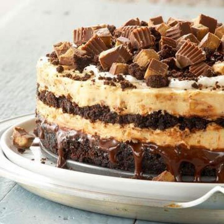 Yum... I'd Pinch That! | Peanut Butter Buckeye Brownie Cheesecake