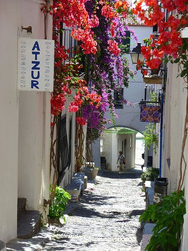 The charming streets in Cadaques, Spain