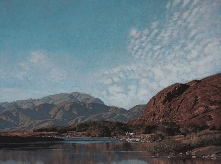 John Meyer / A Trail of Solitude / acrylic & sand on canvas / 115 x 155 cm