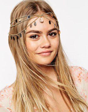 ASOS Multi Row Petal Hair Crown