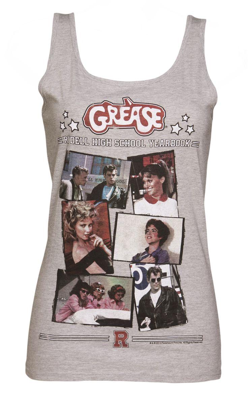 Dames Grease Rydell High Jaarboek Tank Vest