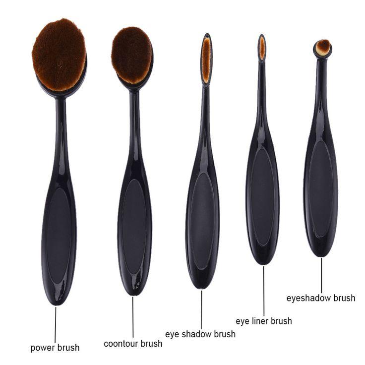 $4.98 (Buy here: https://alitems.com/g/1e8d114494ebda23ff8b16525dc3e8/?i=5&ulp=https%3A%2F%2Fwww.aliexpress.com%2Fitem%2F5pcs-Tooth-Brush-Shape-Oval-Makeup-Brush-Set-Pro-Foundation-Powder-Shadow-Soft-makeup-brushes-eyeliner%2F32764847299.html ) 5pcs hot sale Shape Makeup Brush Set Pro Foundation Powder Shadow Soft makeup brushes eyeliner Makeup Brushes Kit Tools for just $4.98