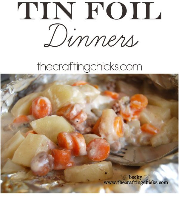 The best Tin Foil Dinners!  My family loves these!  #camping #recipe