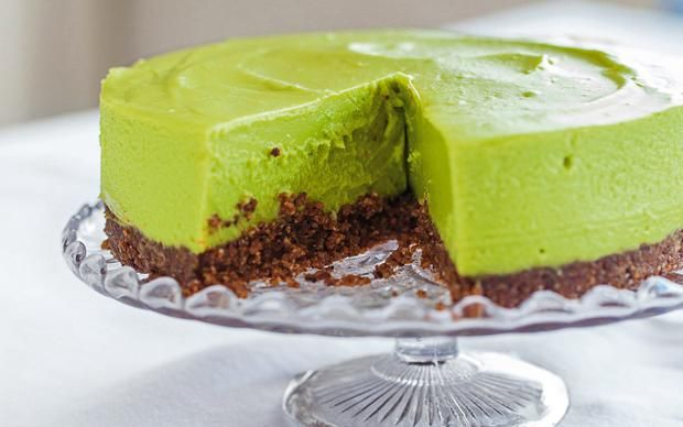 Didn't you say 'a small slice!'  avocado lime cheesecake