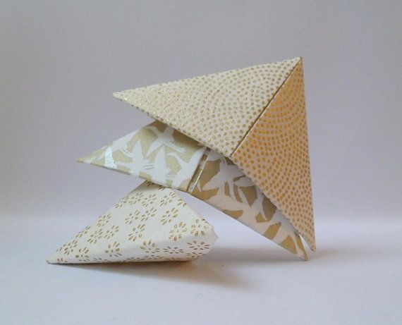 Marque page coin origami