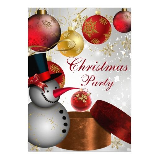 71 best christmas holiday party images on pinterest christmas red gold snowman christmas party invitation stopboris Image collections