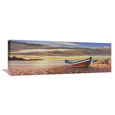 Global Gallery 'Alba Sulla Spiaggia' by Adriano Galasso Painting Print on Wrapped Canvas
