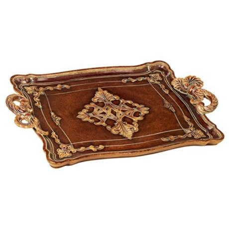 I love this one! Traditional Serving Tray with Rope Style Handles, $40 -- LampsPlus.com