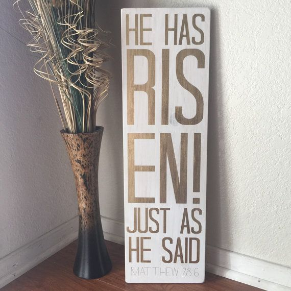 He Has Risen Sign Easter Easter Signs Easter by HouseOfJason