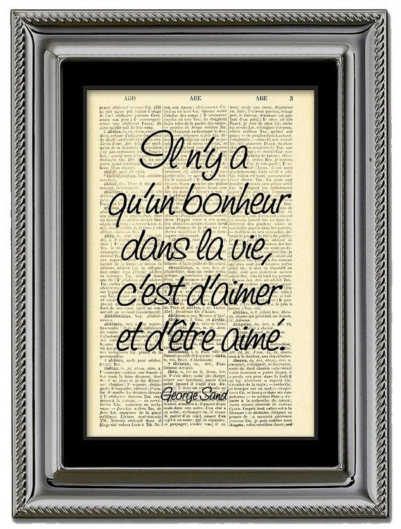 LoveGeorge Sand QuoteTypographic printPrint by Natalprint on Etsy, $8.00
