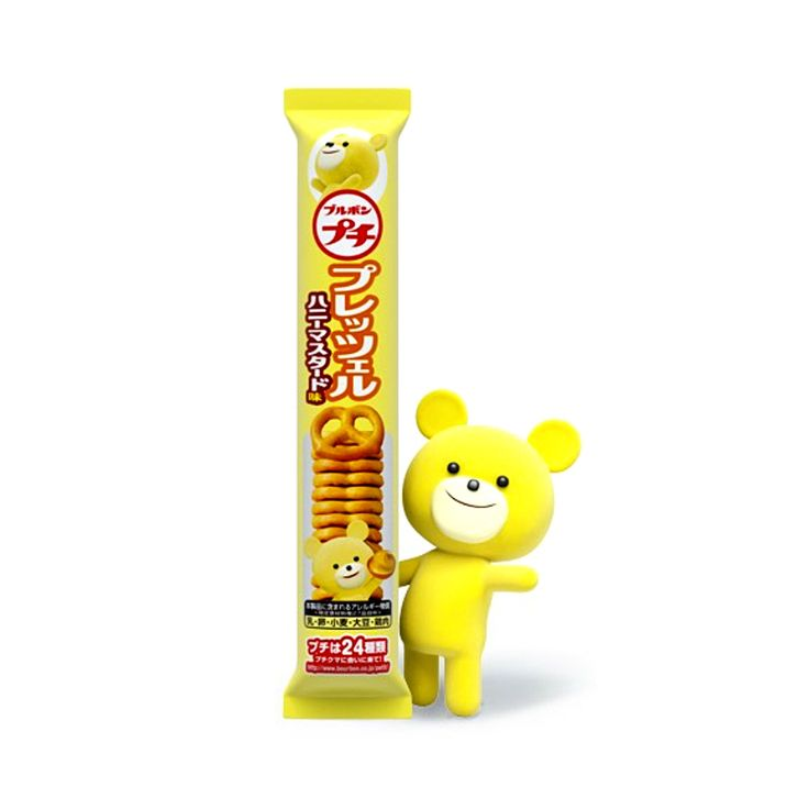 Bourbon's Petit Series is one of the most popular and fun Japanese snack products. This product is Petit Honey Mustard Pretzel, a perfect choice for morning and afternoon tea!Each product of the Petit Series is supportedby a different Petit Bear - See PretzelPetit Bear so cutely offers youa pretzelwith honey mustard on the package (*the bear is not part of this product)!Enjoy your petit afternoon tea adventure with Bourbon Petit Honey Mustard Pretzels.  Producer:Bourbon ブルボン Country…