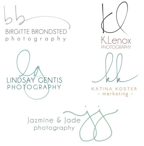 Handwritten Initials logo Custom Logo photoshop von PixelPolish