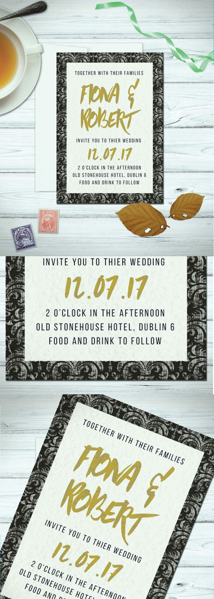 43 best Our Wedding Invitations images on Pinterest | Alternative ...