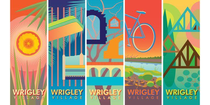 IOANA: Wrigley Village Street Banners, Long Beach