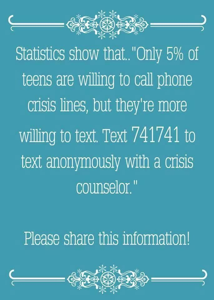 best suicide prevention awareness images text crisis hotline i texted to see if it was real and it is
