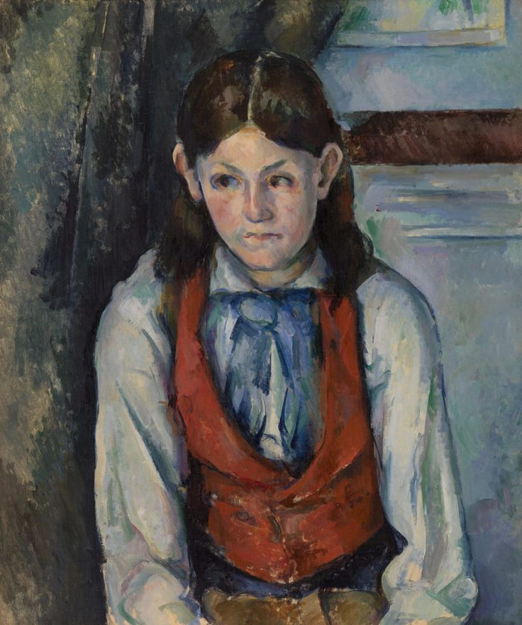 Paul cézanne boy in a red vest le garçon au gilet rouge
