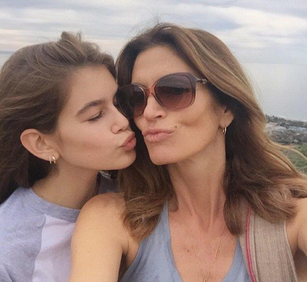 Mother and daughter bonding: Cindy Crawford made sure she enjoyed some exercise leisure time with her daughter Kaia on Thursday