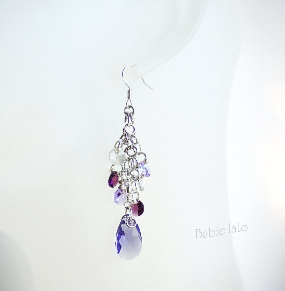 Drops on heather //  purple violet and pink by ILoveIndianSummer, £30.00