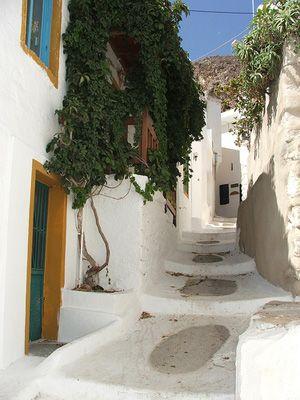 tilos - megalo chorio village