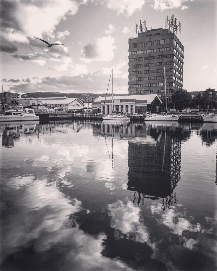 Peaceful day at Victoria Dock