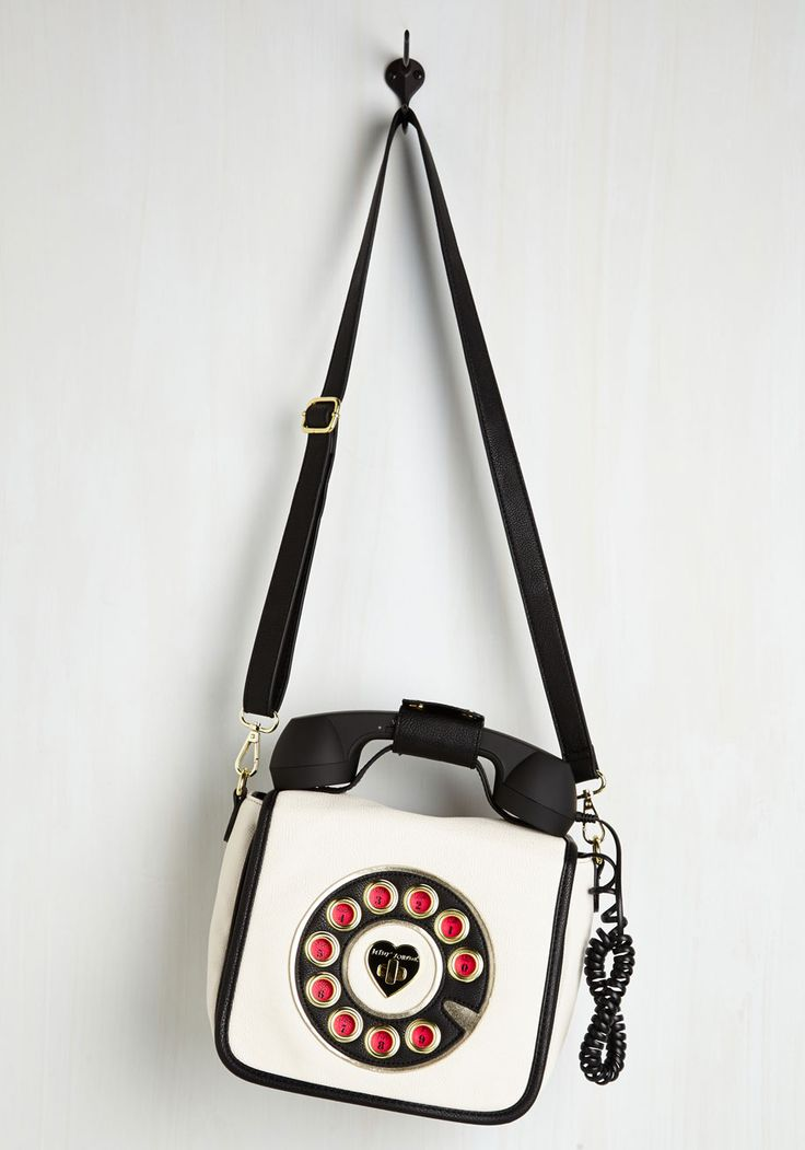 That's What I Call Style Bag in Blanc. You give a new meaning to accessorizing with rings when you model this vegan faux-leather purse by Betsey Johnson! #white #modcloth
