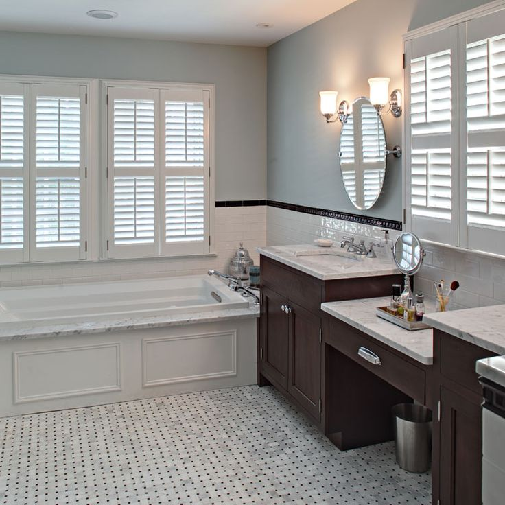 classic carrara marble bath in montclair removable whirlpool wainscott panel tracey stephens interior design in montclair nj - Carrara Marble Bathroom Designs