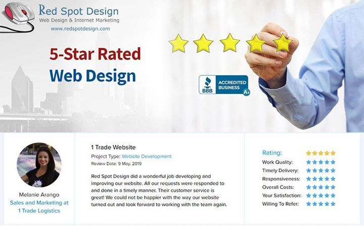 5 Star Rated Web Design Project Type Website Development Red Spot Design Did A Wonderful Job Developing A Web Design Web Design Projects Website Development