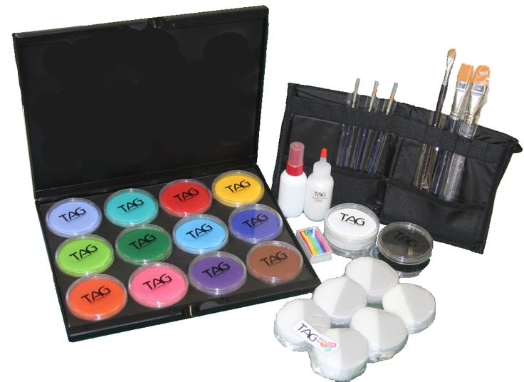 tag body art face paint kit