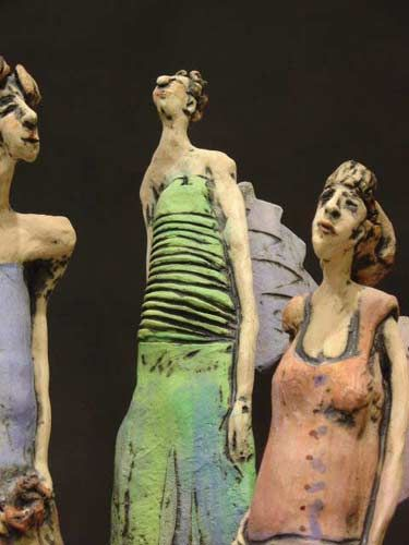 Paper clay figures by chrissie callejas and salt