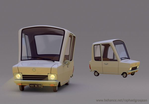 Vehicles by Raphael Grosjean, via Behance