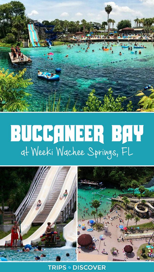 Buccaneer Bay is a Spring-Fed Water Park at Weeki Wachee Springs, Florida