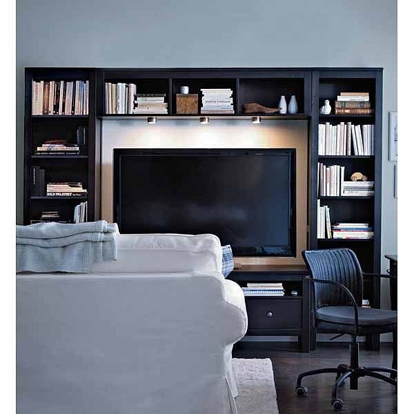 Ikea Godmorgon High Gloss Grey ~ Hemnes our entertainment center minus the lights from ikea we love