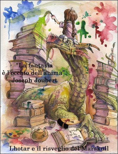 La Fantasia è l'occhio dell'anima. Joseph Joubert #Dragon #book #fantasy #Marskull #Fantasia #dreams