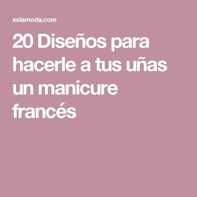 M s de 25 ideas incre bles sobre u as estilo frances en for Entrantes tipicos franceses
