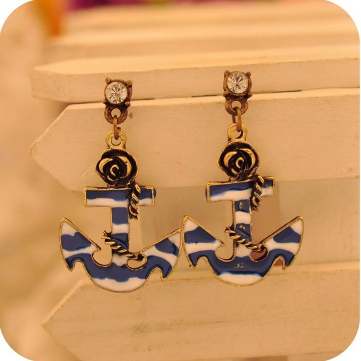 Anchor Stud Earrings... So Cute!Earringsfr Ships, Johnson Dangle, Earrings Fre Ships, Stud Earrings, Dangle Anchors, Betsey Johnson, Studs Earringsfr, Studs Earrings Fre, Anchors Studs