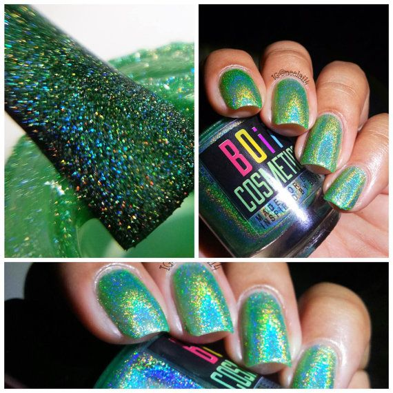 Holographic nail polish, holo nail polish, my prince's heart skipped a beat when he saw me   - Boii Nail polish