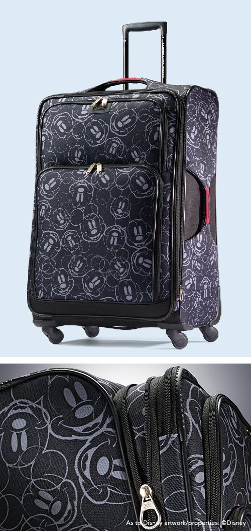 """Mickey Mouse Spinner Softside Multi Faces 21"""" and 28"""" by American Tourister: The official luggage of Walt Disney World Resort and Disneyland"""