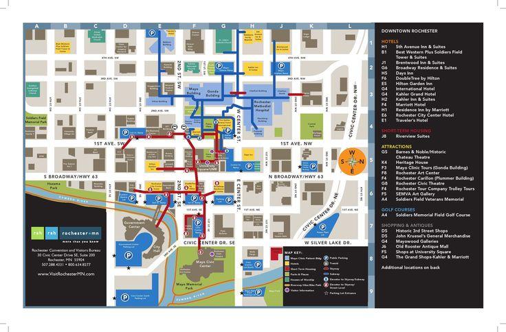 Rochester, MN Downtown Map MinneapolisSaint Paul