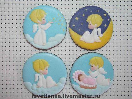 Sweet little angel sugar cookies | Cookie Art | Pinterest