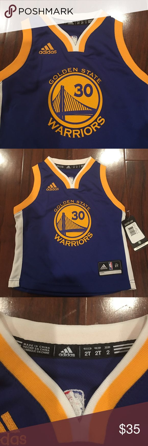 Adidas Golden State Warriors Stephen Curry Jersey Adidas Golden State Warriors Stephen Curry Toddler Replica Road Jersey - Royal Blue. Never Been Worn. NWT-- son received two jerseys as gifts. Perfect for your little sports fan! Size 2 Toddler Adidas Shirts & Tops Tank Tops