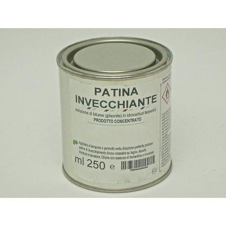 Produce patine di invecchiamento bruno rossastre su legno, stucchi, dorature e laccature.  Prodotto concentrato che deve essere applicato a tampone o pennello nella diluizione preferita.